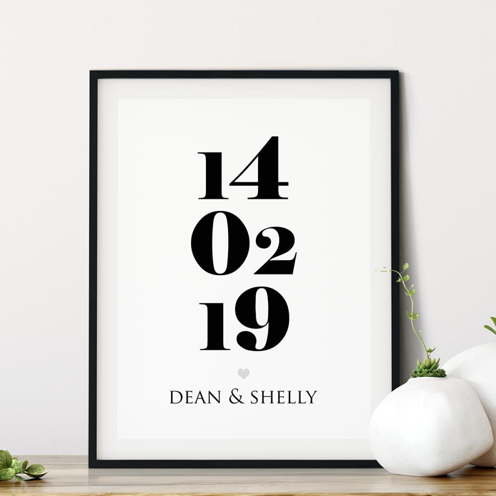 Established Date Print