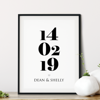 Established Date Print