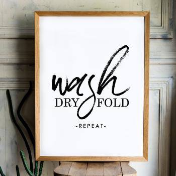 Wash Dry Fold Print