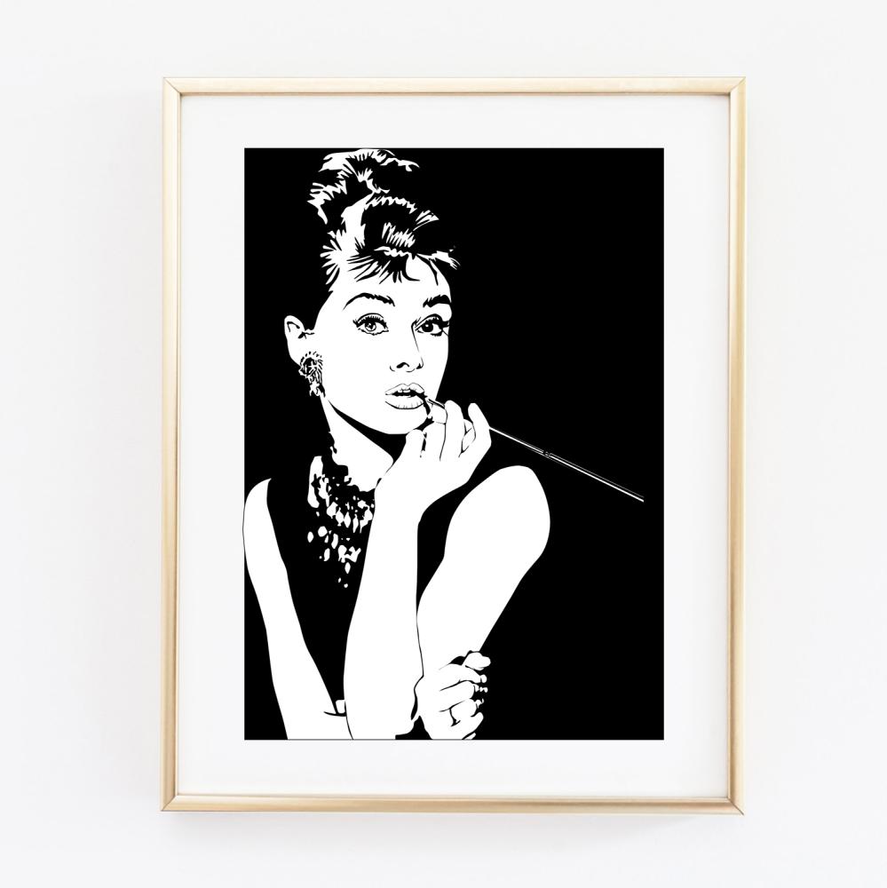 Hepburn Print