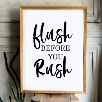 Flush Before you Rush