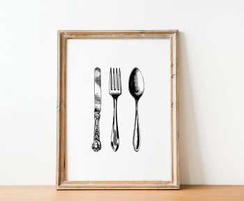 Kitchen Cutlery Print
