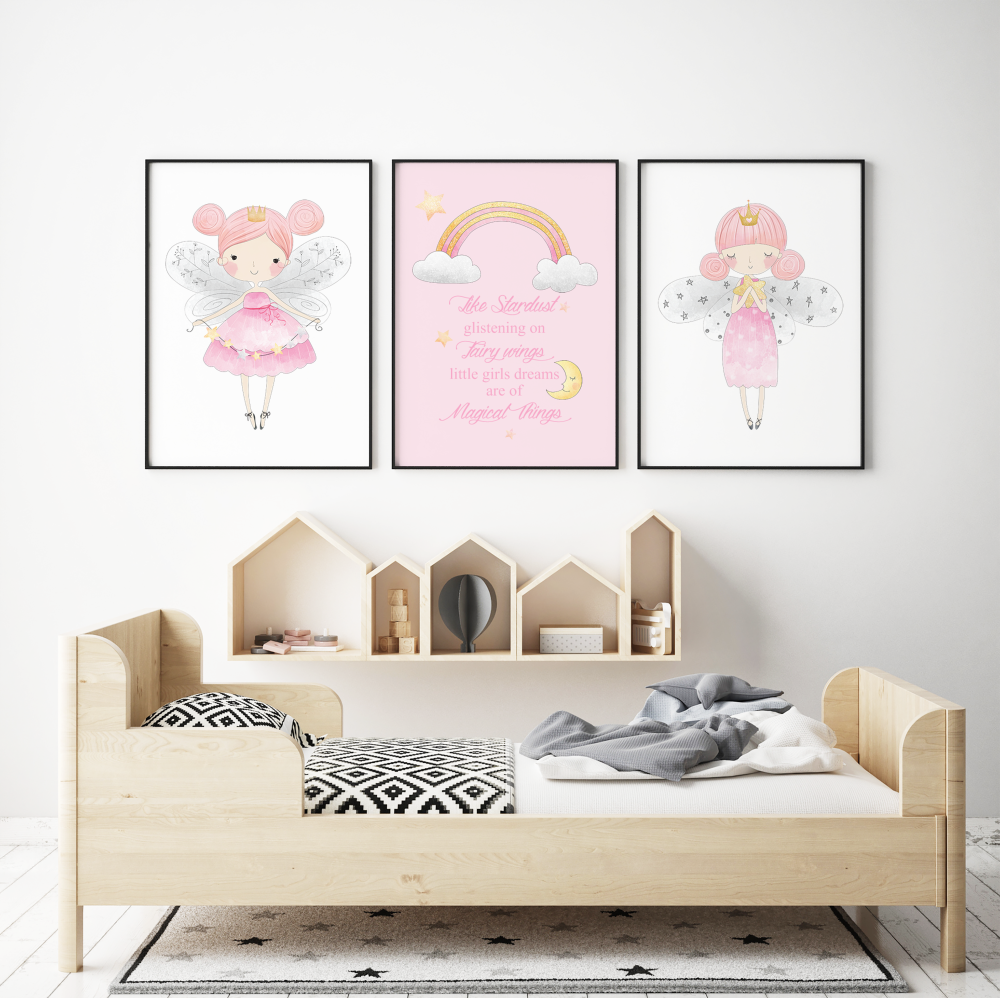 Set of 3 Little Fairies Prints