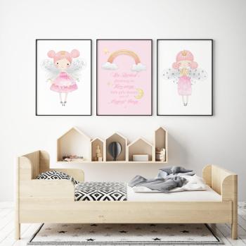 Set of 3 Little Fairies Prints