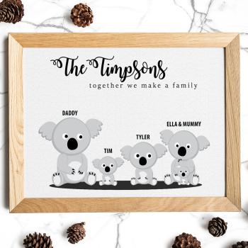 Koala Family Print