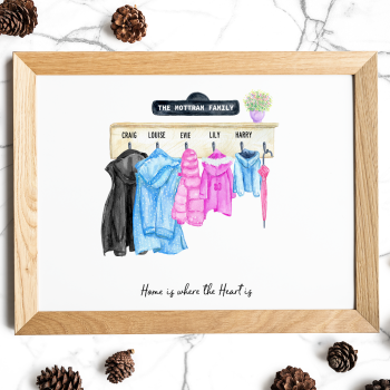 Personalised Family Coats print