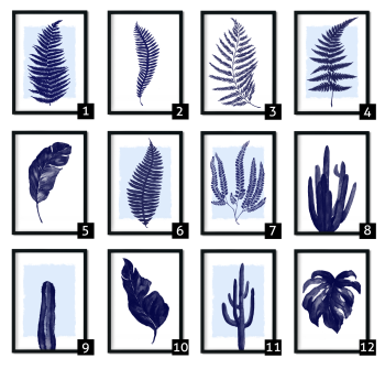 Blue Botanical Prints