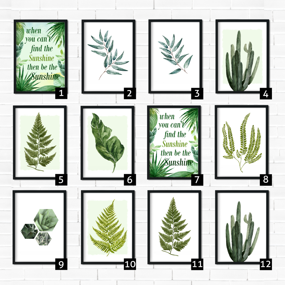 Green Botanical Prints