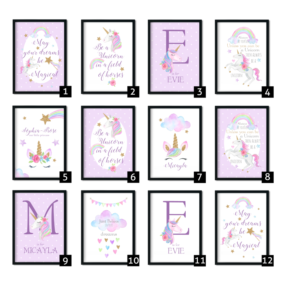 Unicorn Nursery Prints