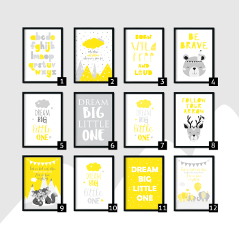 Yellow Nursery Wall Art