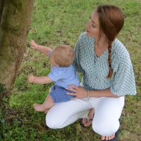 Breastfeeding Tops - Kimono breastfeeding tops in turquoise tessellate