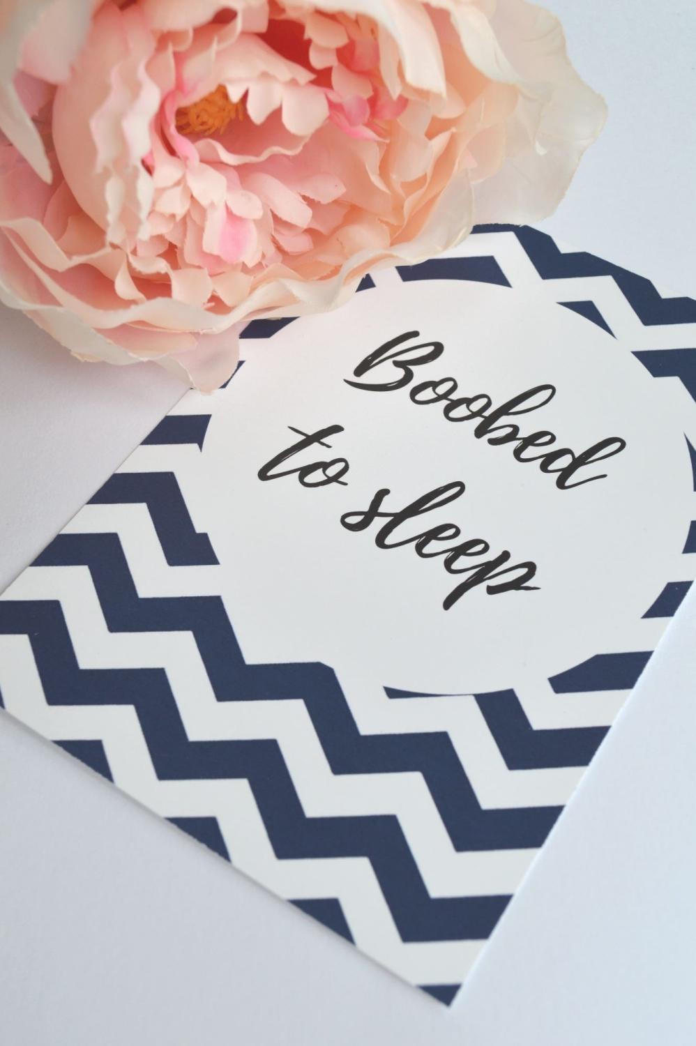 Breastfeeding Milestone Cards - Navy Chevron Print