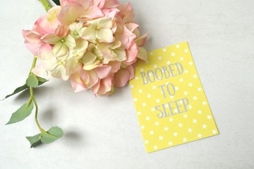 Breastfeeding Milestone Cards - Yellow with White Stars