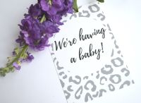Pregnancy Milestone Cards - Grey and While Leopard Print