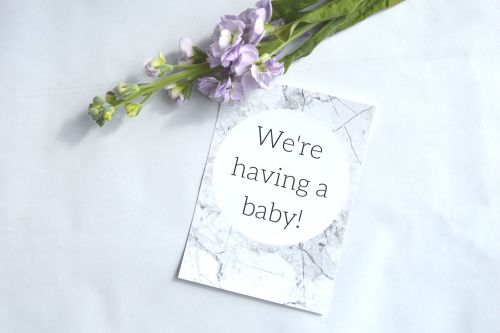 Pregnancy Milestone Cards - Grey Marble