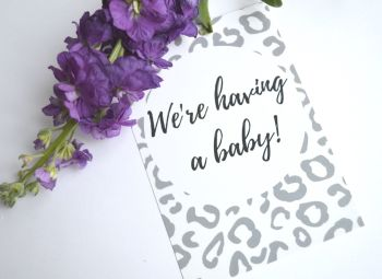 BUMPER PACK of 60 cards! 30 Pregnancy Milestone cards and 30 Funny Milestone Cards - Grey and White Leopard Print
