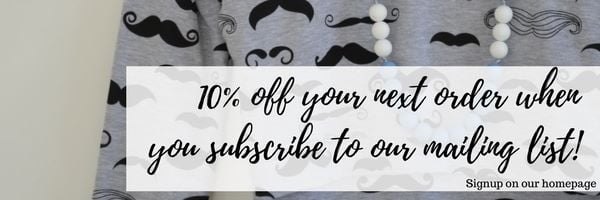 10% off your next order when you subscribe to our mailing list!
