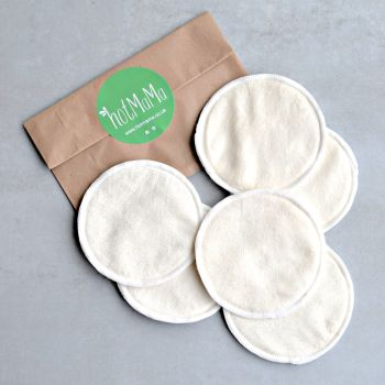 Reusable Bamboo Breast Pads - 3 Pairs - White