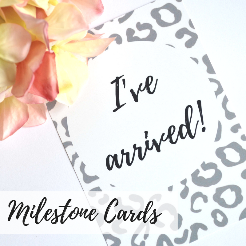 Baby Milestone Cards, Alternative baby milestone cards, Funny baby milestone cards, Baby shower gifts, Pregnancy milestone cards