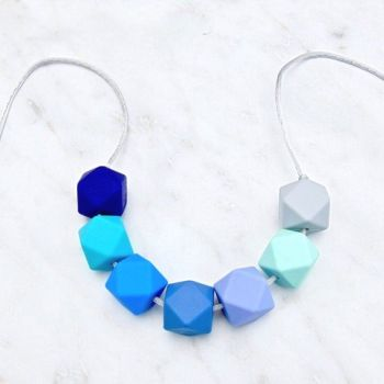 Ella Teething Necklace in Aqua