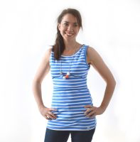 <!-- 050 -->Breastfeeding Vest - Sky Blue Stripe