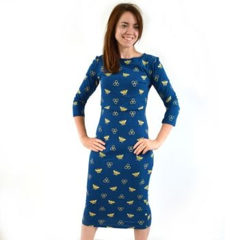 Midi Breastfeeding Dress in Honey Bee