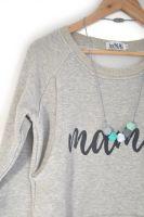 <!-- 148 -->Mama print breastfeeding sweater in grey