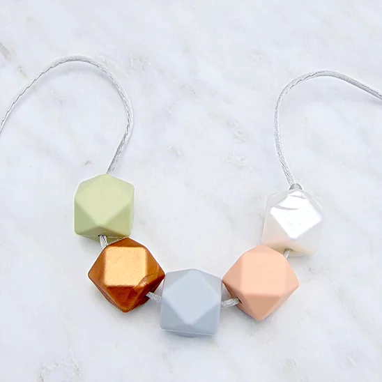 Lou Lou Teething Necklace in Copper and Pastels
