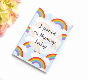 Funny Milestone Cards - Rainbow printed background