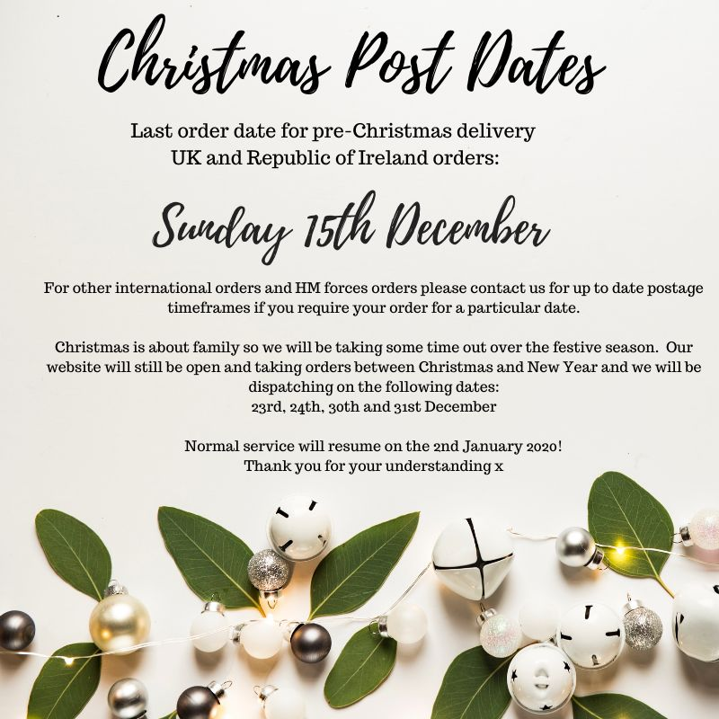 Christmas Post Dates
