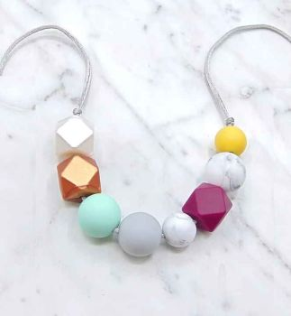 Lola Teething Necklace in Summer Brights