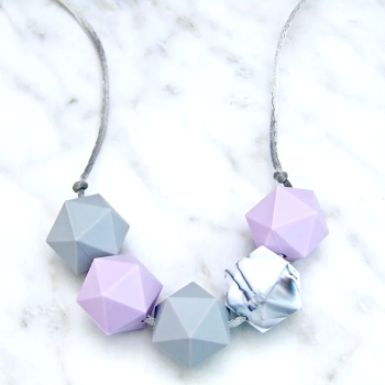 Bella Teething Necklace in Lavender