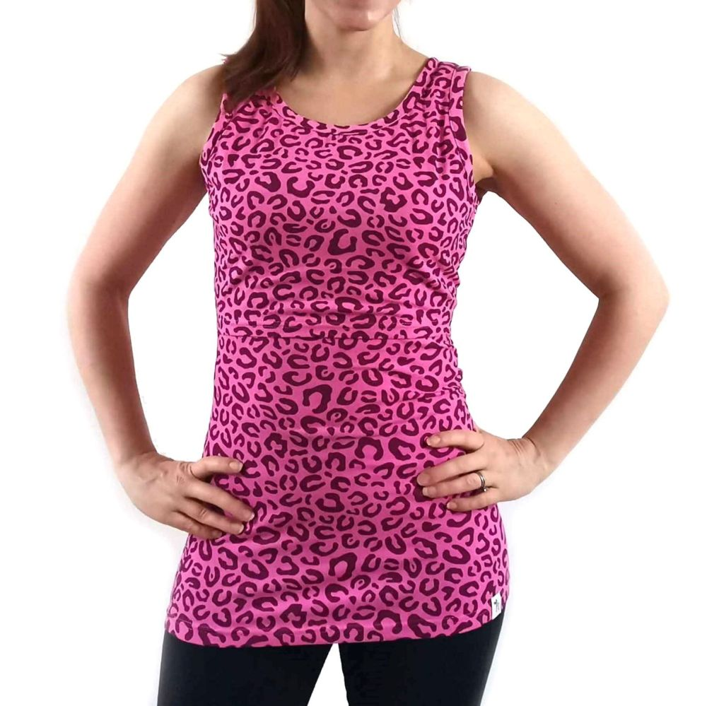 <!-- 043 -->Breastfeeding Vest - Pink Leopard