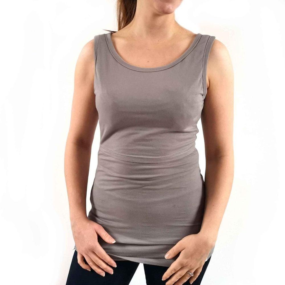 <!-- 055 -->Breastfeeding Vest - Slate