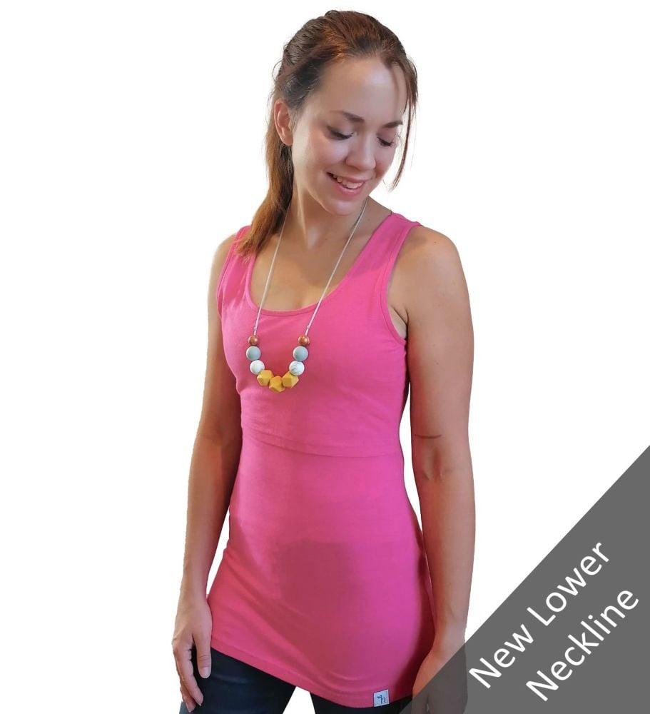 <!-- 044 -->Breastfeeding Vest - Pink