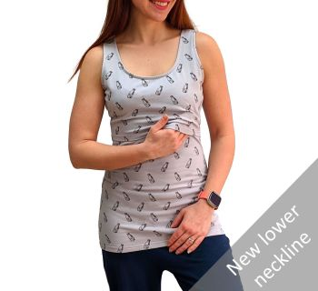 Breastfeeding Vest - Milk Bottles