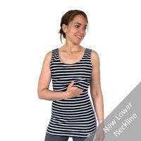 <!-- 046 -->Breastfeeding Vest - Black with white stripe