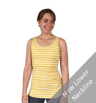 Breastfeeding Vest - Yellow Stripe