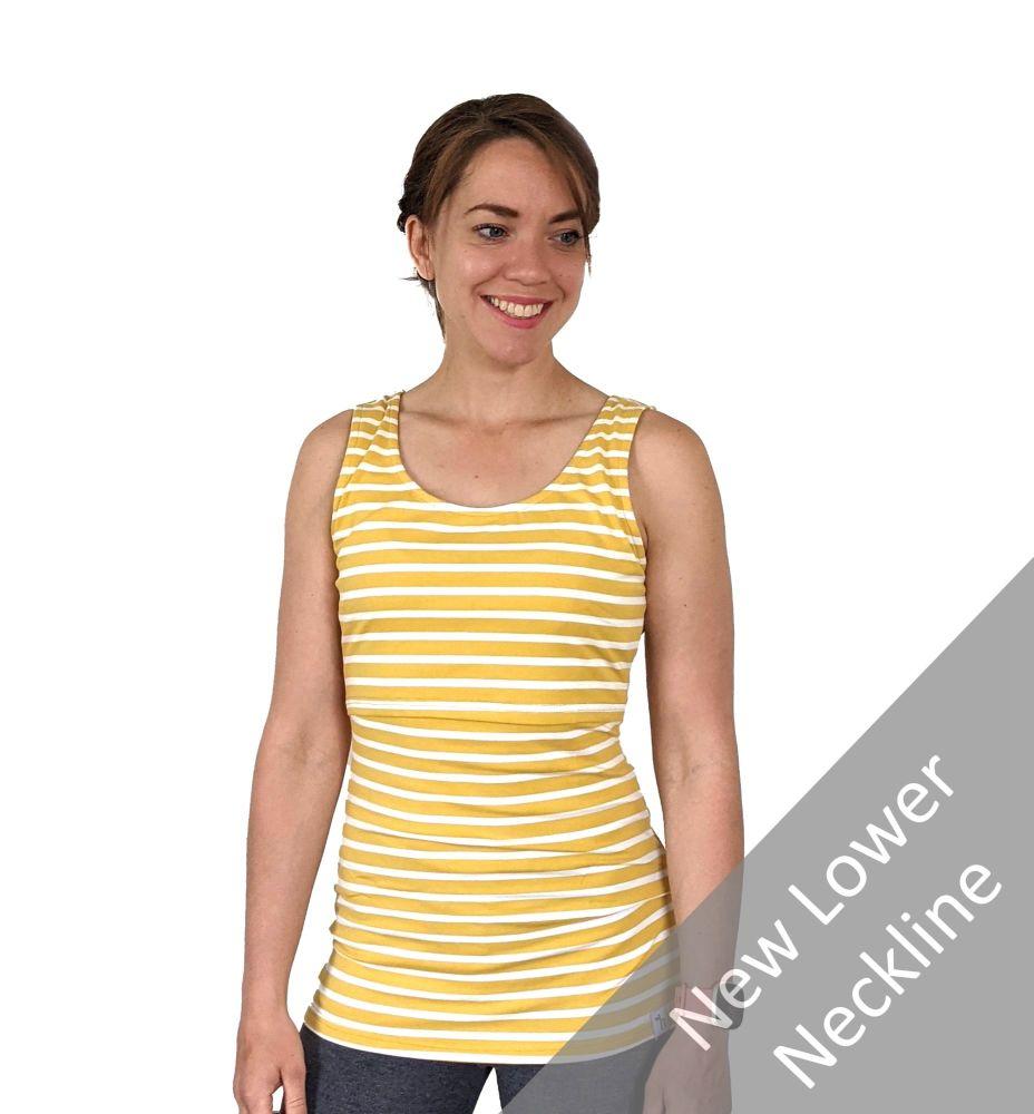 <!-- 047 -->Breastfeeding Vest - Yellow Stripe