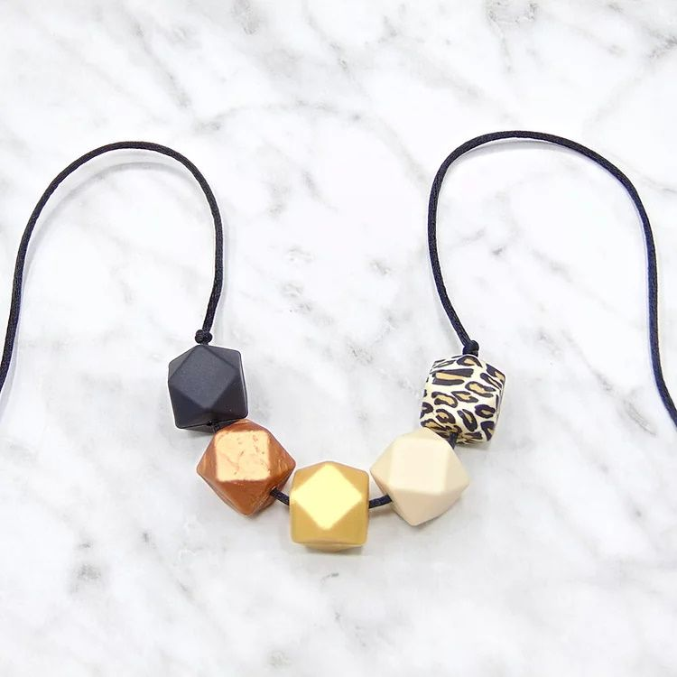 Lou Lou Teething Necklace in Autumn Gold