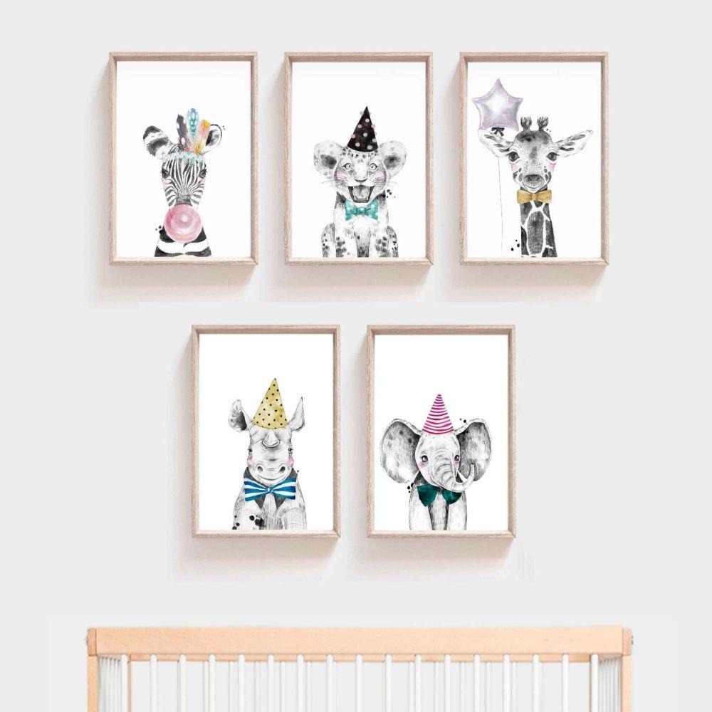Nursery Prints - Party Animals