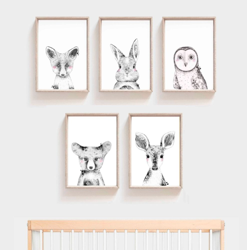 Nursery Prints - Woodland Animals