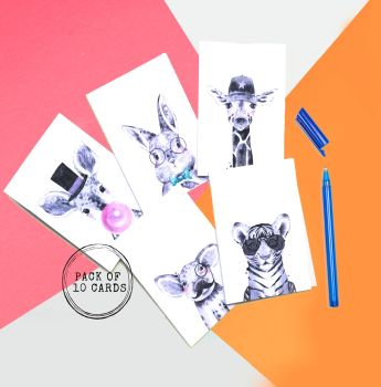 Cool Hipster Animal Cards