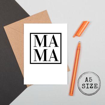 New Mum Card - MAMA