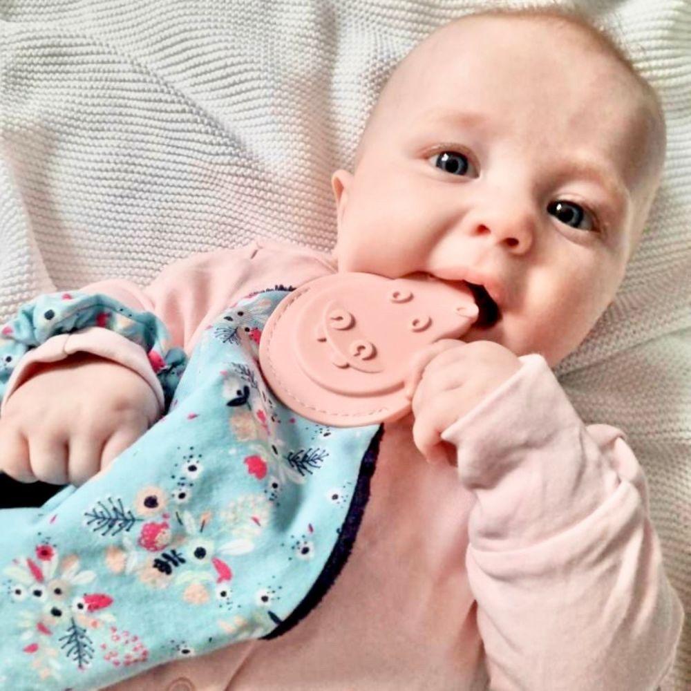 <!-- 060 -->Comfortchew -Baby Comforter in Botanical Bloom