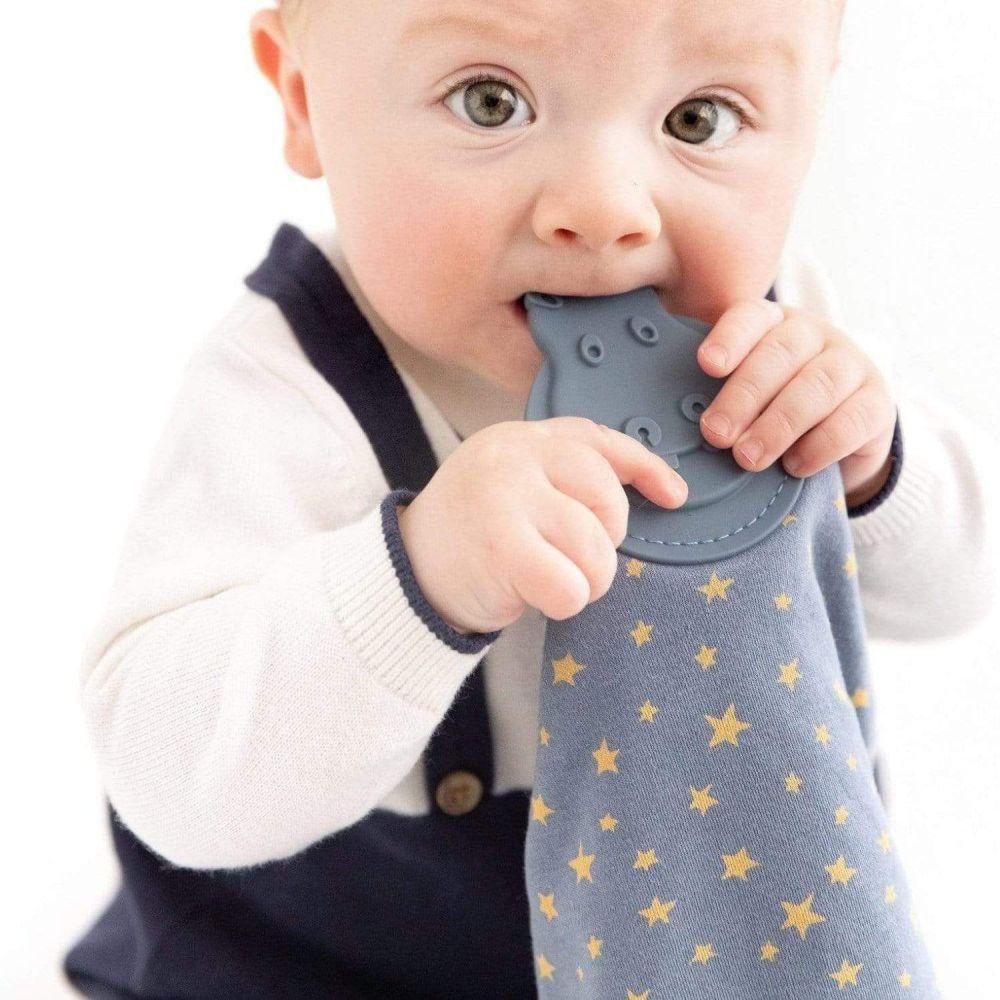 <!-- 060 -->Comfortchew -Baby Comforter in Midnight Stars