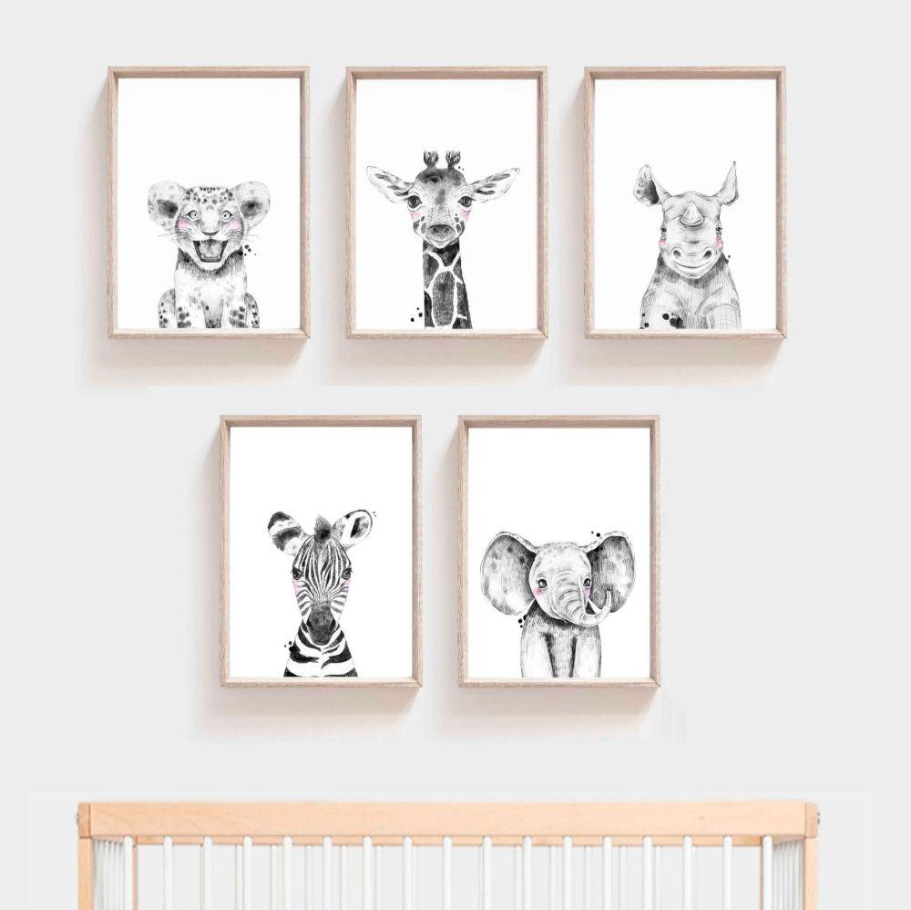 <!-- 051 --> Nursery Prints - Safari Animals