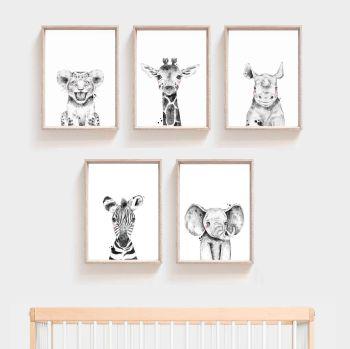 Nursery Prints - Safari Animals
