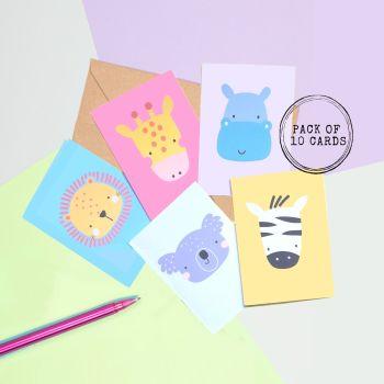 Cartoon Wild Animal Cards