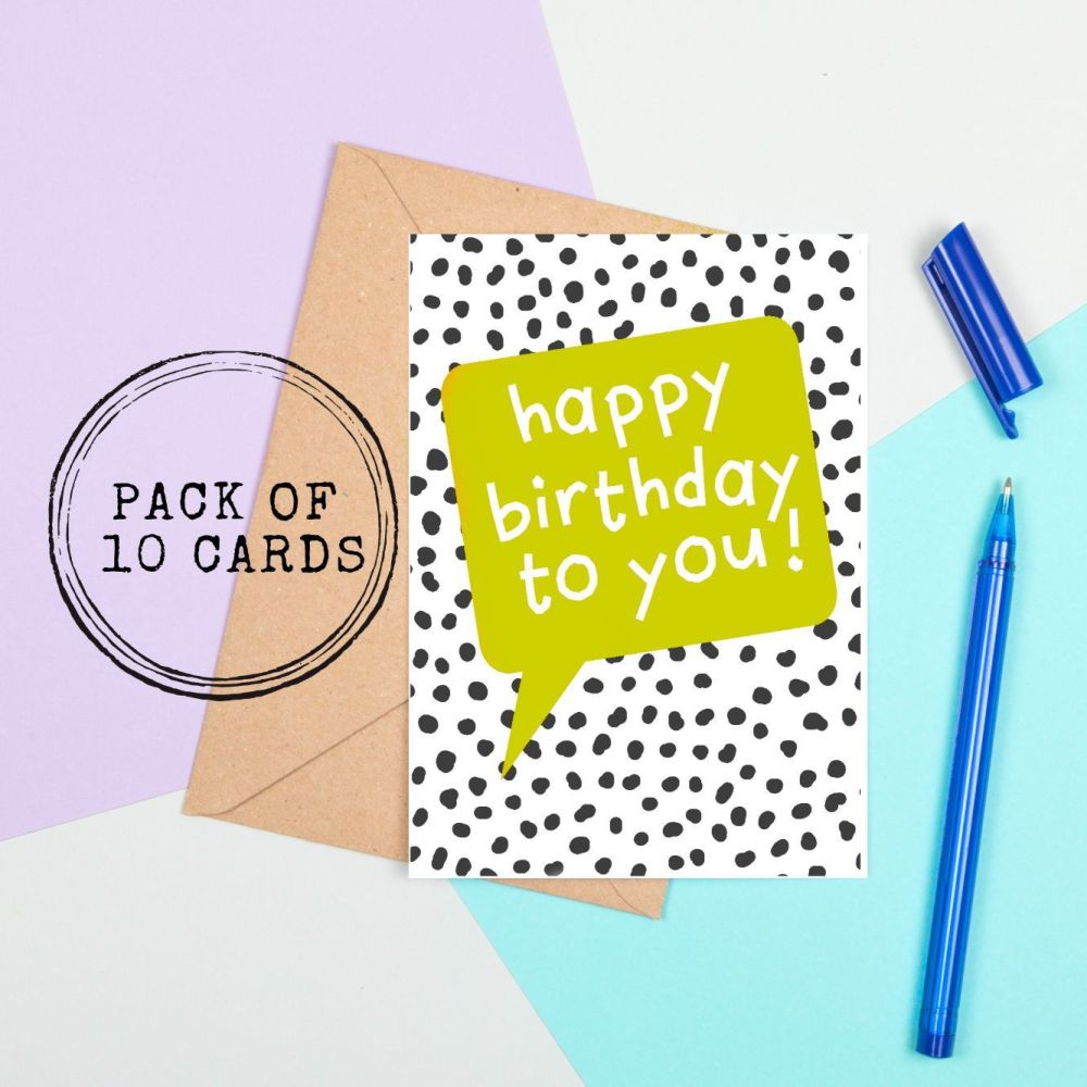 <!-- 011 --> Bright Birthday Cards - Speech Bubble Style